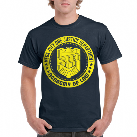 Mega City One Justice Department Academy of Law Cadet T-Shirt Inspired by Judge Dredd